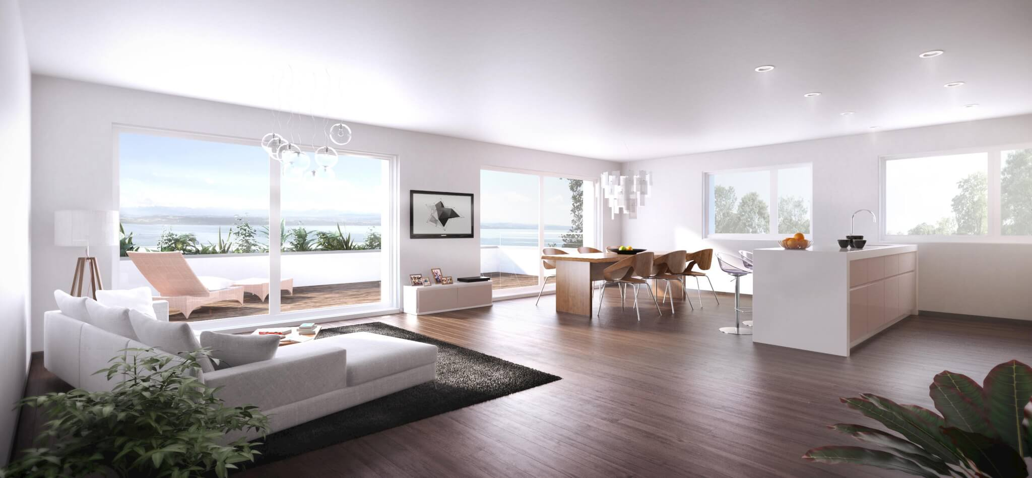 Phong cách thiết kế hiện đại, tối ưu không gian tự nhiên trong từng căn hộ