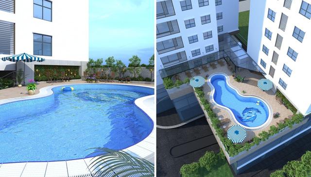 HongKong Tower giảm sức nóng mùa hè với bể bơi 4 mùa trong dự án