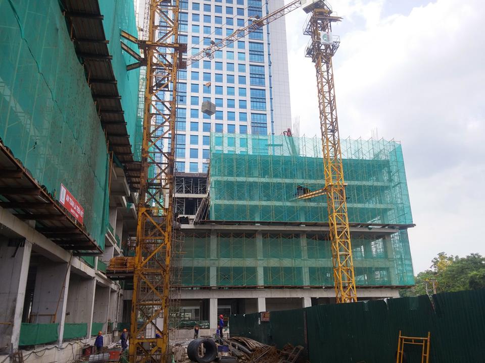 Tiến độ dự án chung cư HongKong Tower tháng 6 năm 2016