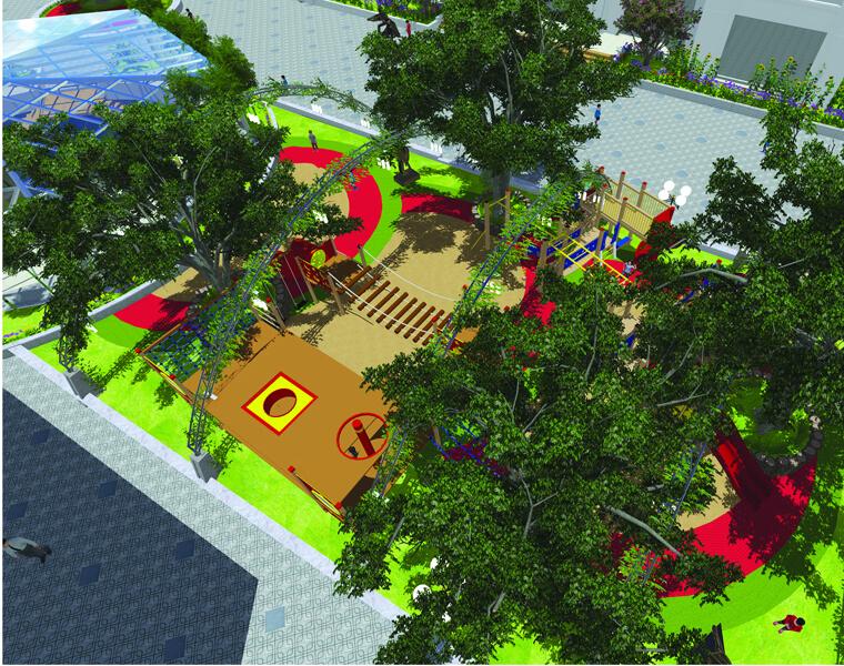 Phối cảnh một khu vui chơi giải trí tại chung cư An Bình City