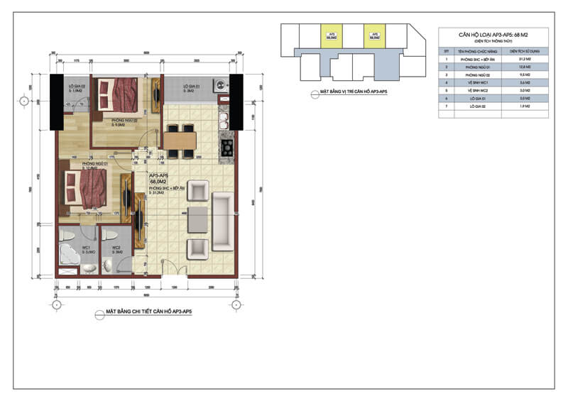 Thiết kế căn hộ số 03-05 tòa A chung cư 219 Trung Kính