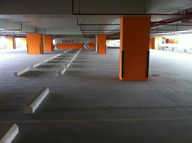Hầm để xe nổi đặc trưng cho một dự án hiện đại