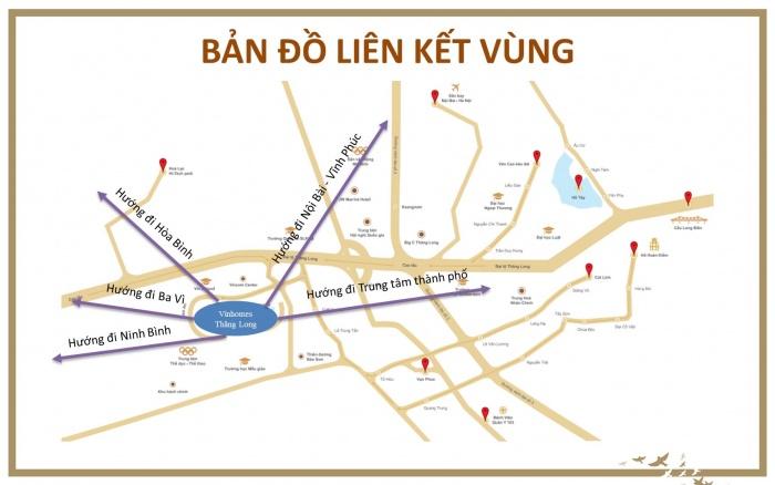 Bản đồ liên kết vùng Vinhomes Thăng Long