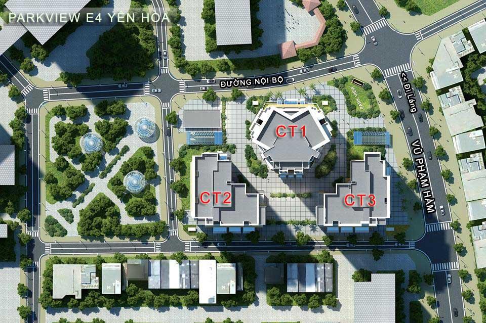 Chung Cư E4 Yên Hòa – Vị trí trung tâm