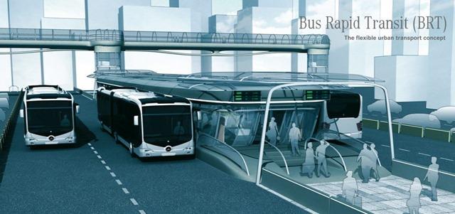 Trạm xe bus nhanh BRT trên đường Tố Hữu