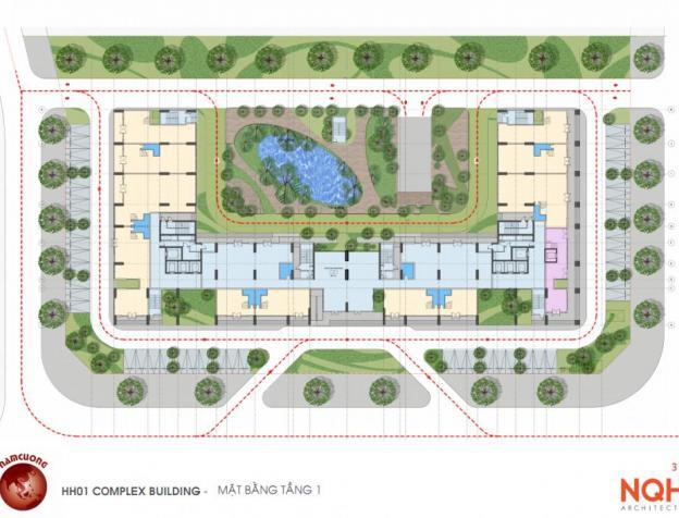 Mặt bằng thiết kế chung cư AnLand HH01 Complex Building Nam Cường KĐT Dương Nội
