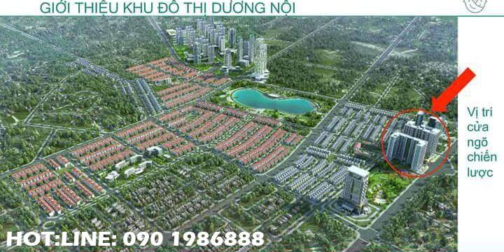 Phối cảnh khu đô thị Dương Nội do tập đoàn Nam Cường làm chủ đầu tư