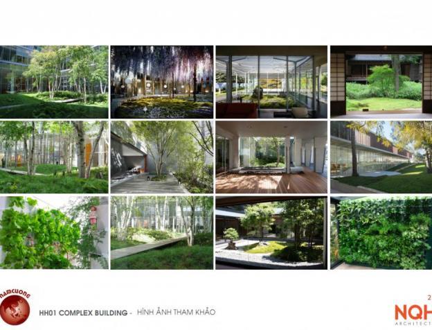 Chung cư HH01 Complex Building Nam Cường xanh mát với nhiều khuôn viên cây xanh