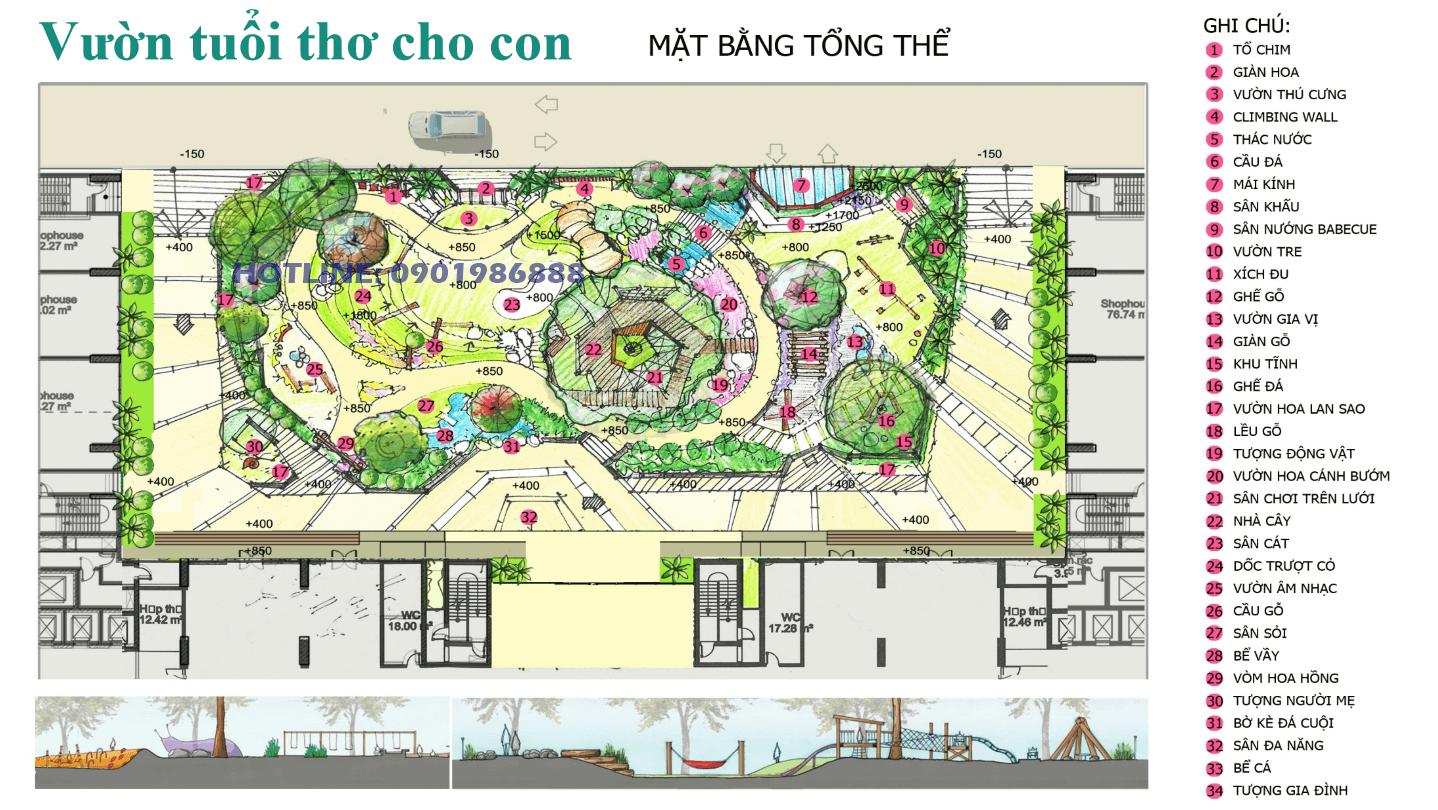 Vườn tuổi thơ cho con tại chung cư AnLand Complex Building Nam Cường