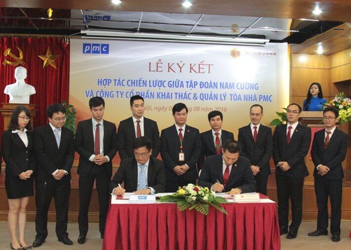Lễ ký kết hợp tác của PMC và tập đoàn Nam Cường