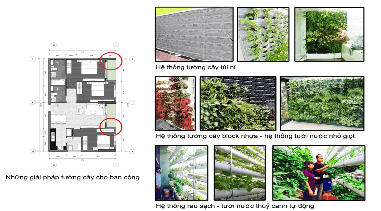 Giải pháp tường cây chung cư AnLand Nam Cuong Dương Nội