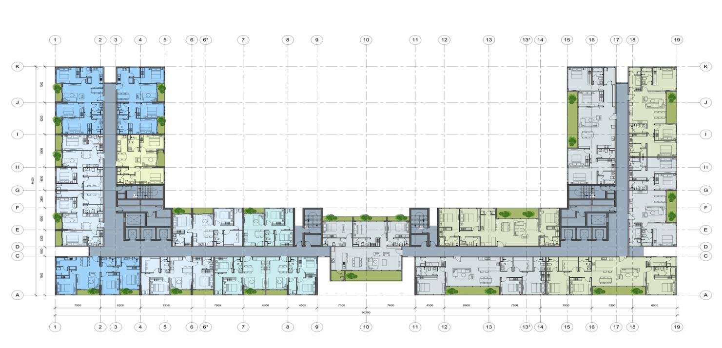Mặt bằng thiết kế tầng 25 chung cư AnLand Complex Building Nam Cường khu đô thị Dương Nội