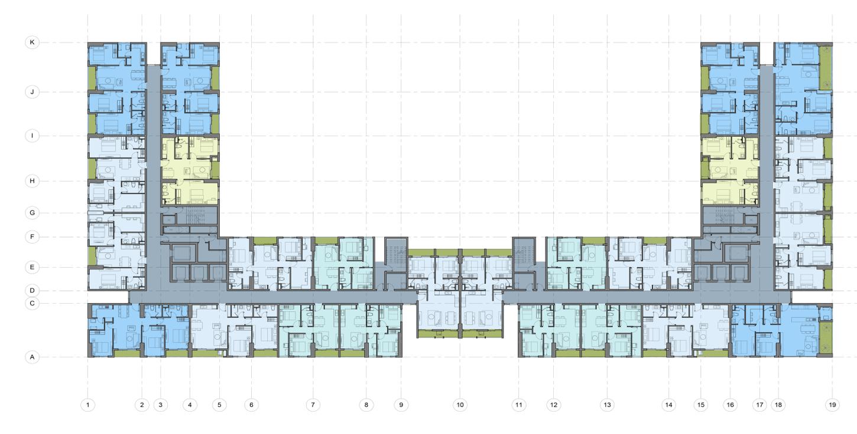 Mặt bằng thiết kế tầng 4-24 chung cư AnLand Complex Building Nam Cường khu đô thị Dương Nội