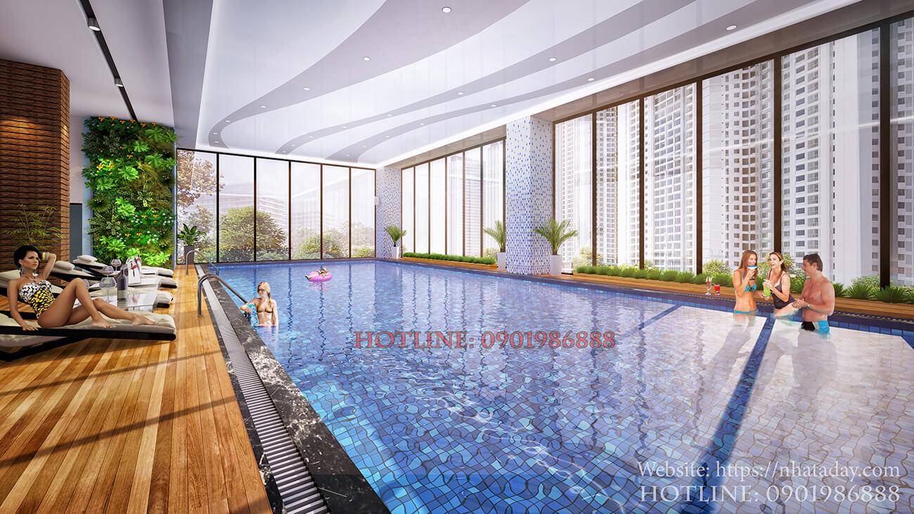Bể bơi 4 mùa tại tầng 3 chung cư AnLand Nam Cường Complex Building