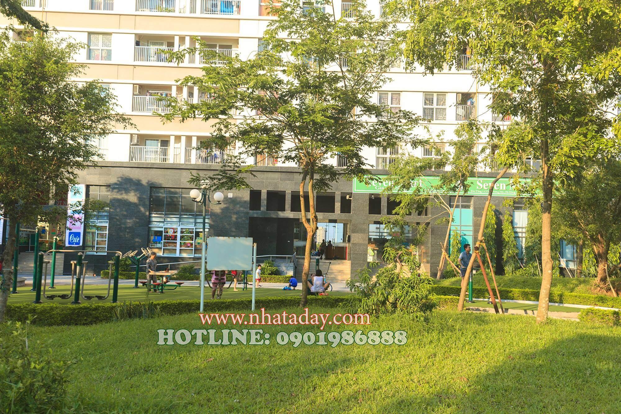 Một góc công viên tại chung cư The Spark Dương Nội