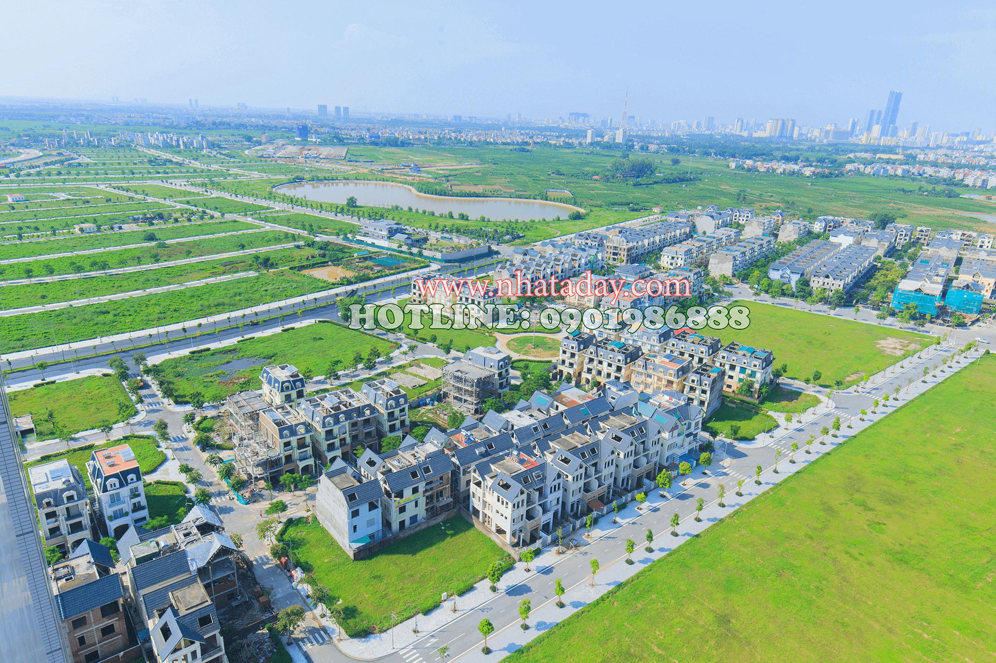 Một góc khu đô thị Dương Nội A nhìn từ tòa nhà Nam Cường